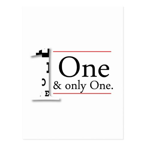 one and only one postcard