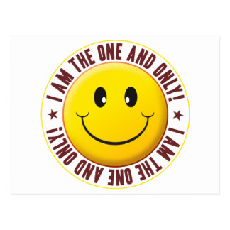 One And Only Smiley Postcard