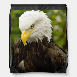 One Angry Bald Eagle Drawstring Backpack