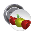 One apple for everyone pinback buttons