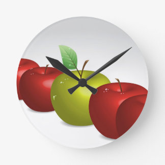 One apple for everyone round clock