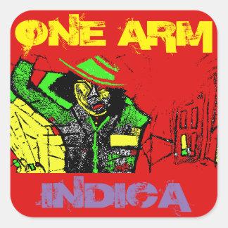 ONE ARM INDICA SQUARE STICKER