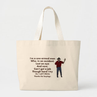 One-Armed Man Tote Bag