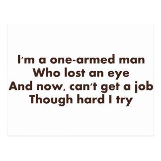 One-Armed Man Postcard