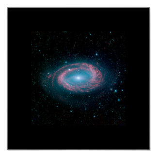 One Armed Spiral galaxy NGC 4725 Poster