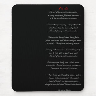 One Art by Elizabeth Bishop Mouse Pad