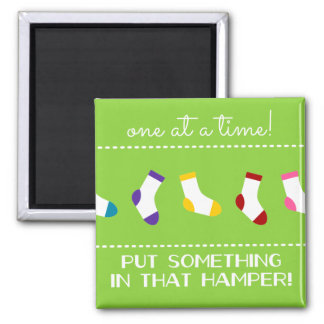 One At A Time! 2 Inch Square Magnet