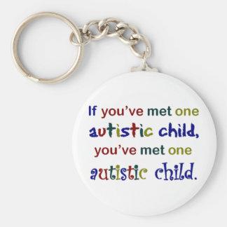 One Autistic Child Basic Round Button Keychain
