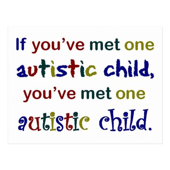One Autistic Child Postcard