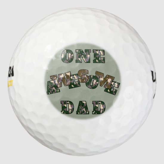 One Awesome Dad golf ball