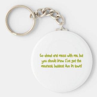 One Bad Avo Keychain