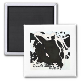 ONE BAD BUNNY 2 INCH SQUARE MAGNET