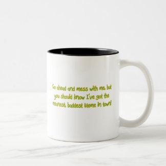 One Bad Meme Two-Tone Coffee Mug