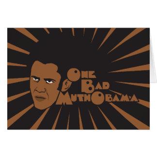 One bad muthaboama greeting card