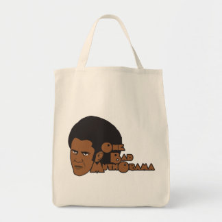 One bad muthaboama grocery tote bag