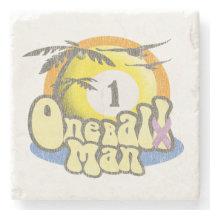 One Ball Man Stone Coaster