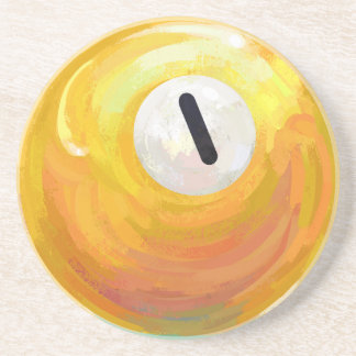 One Ball Sandstone Coaster