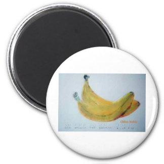 One Banana, Two Banana 2 Inch Round Magnet