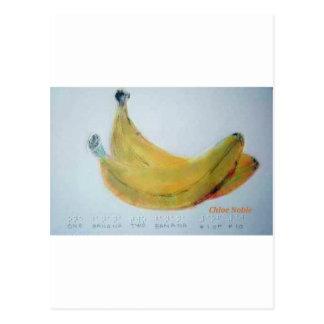 One Banana, Two Banana Postcard