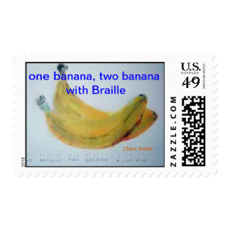 """""""One Banana, Two Banana with Braille"""" Stamps"""