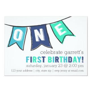 One Banner Invitation - Boy
