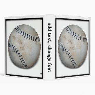 One Baseball 3 Ring Binder