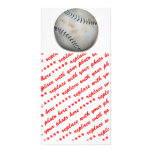 One Baseball Customized Photo Card