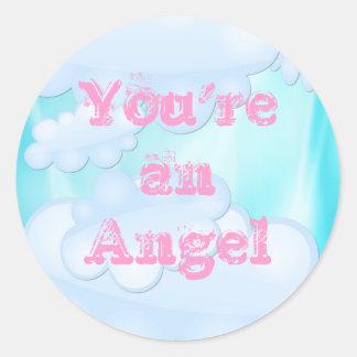 One Beautiful Angel Classic Round Sticker