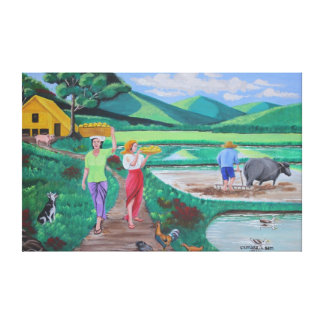 One Beautiful Morning in the Farm Canvas Print