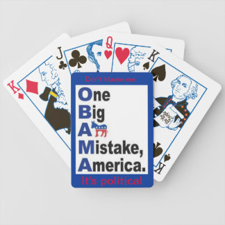 One Big A** Mistake America political playing card Bicycle Playing Cards