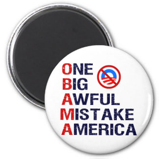 One Big Awful Mistake, America 2 Inch Round Magnet