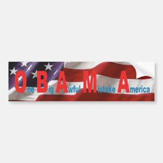One Big Awful Mistake America Bumper Sticker