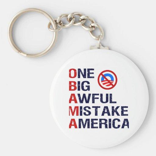 One Big Awful Mistake, America Basic Round Button Keychain