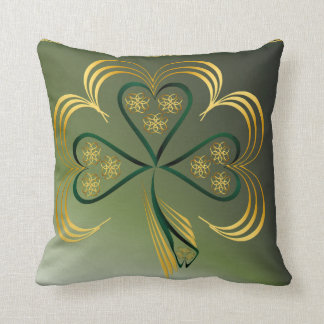 One Big Bright Shamrock Throw Pillow