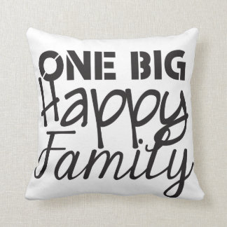 One Big Happy Family Throw Pillow