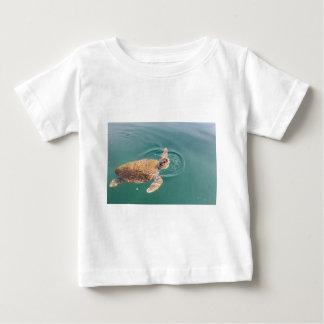 One big swimming sea turtle Caretta Baby T-Shirt
