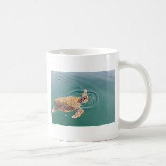 One big swimming sea turtle Caretta Coffee Mug