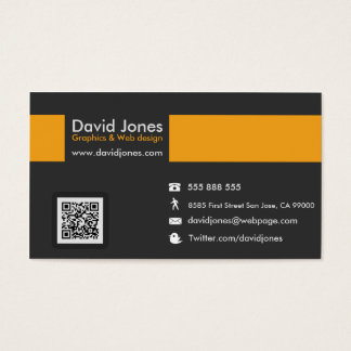 One Big Yellow Line Professional Business Card