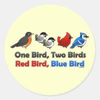 One Bird, Two Birds... Round Sticker