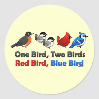 One Bird, Two Birds... Classic Round Sticker