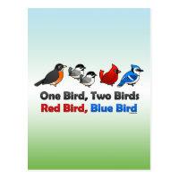 One Bird, Two Birds... Postcard