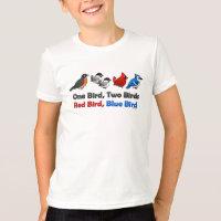 One Bird, Two Birds... Kids' American Apparel Fine Jersey T-Shirt