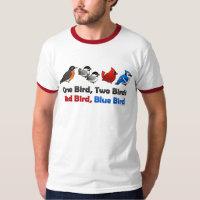 One Bird, Two Birds... Men's Basic Ringer T-Shirt