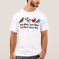 One Bird, Two Birds... Men's Basic T-Shirt