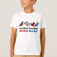 One Bird, Two Birds... Kids' Hanes TAGLESS® T-Shirt