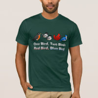 One Bird, Two Birds... Men's Basic American Apparel T-Shirt