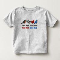 One Bird, Two Birds... Toddler Fine Jersey T-Shirt