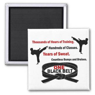 ONE Black Belt 1 KARATE T-SHIRTS & APPAREL 2 Inch Square Magnet