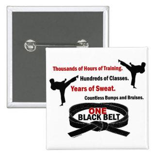 ONE Black Belt 1 KARATE T-SHIRTS & APPAREL Button