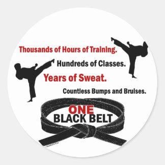 ONE Black Belt 1 KARATE T-SHIRTS & APPAREL Classic Round Sticker